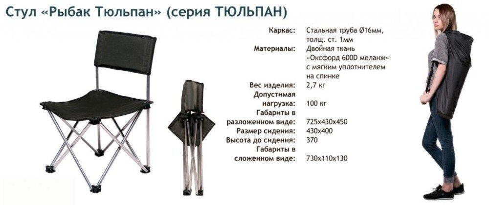 Стул Рыбак-тюльпан D-16мм