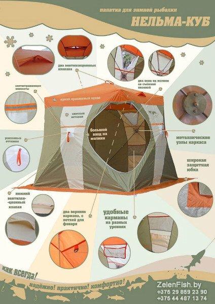 Зимняя палатка Нельма Куб 1 (аксессуары)